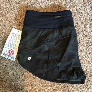 Lululemon camo Speed up shorts